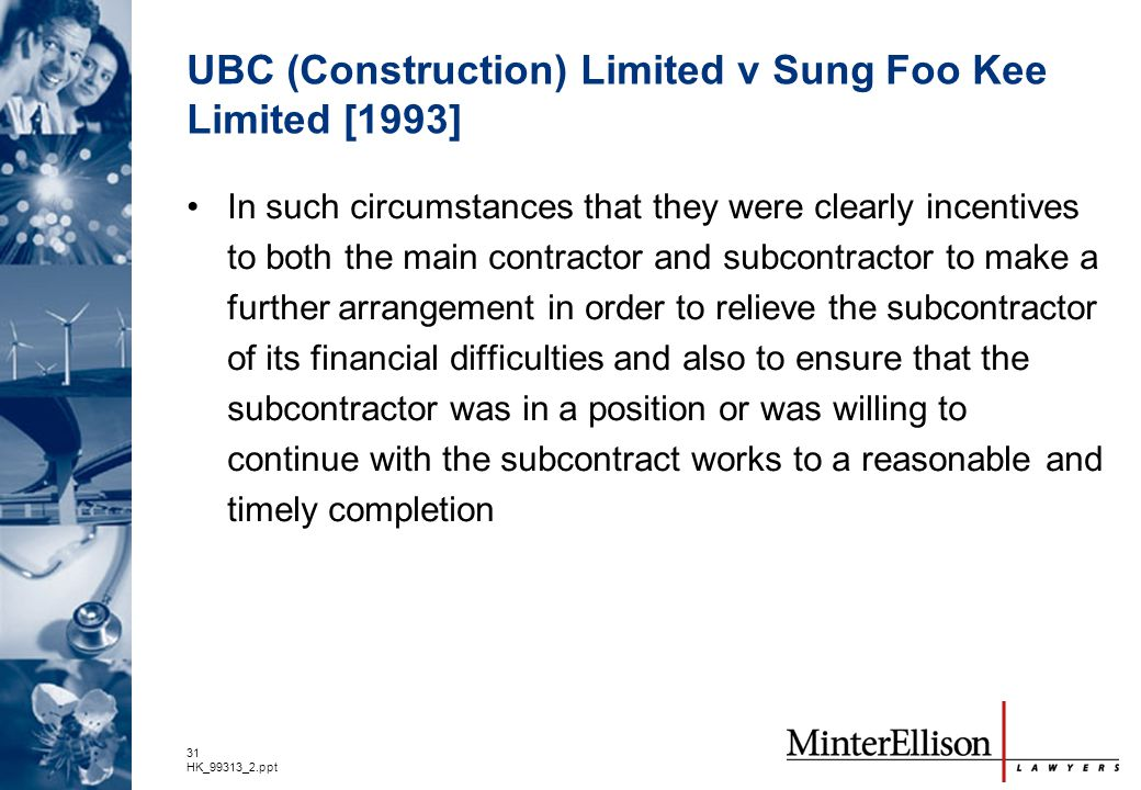 UBC (Construction) Limited v Sung Foo Kee Limited [1993]